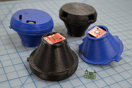Funktionierende Prototypen des Latenz-Testers