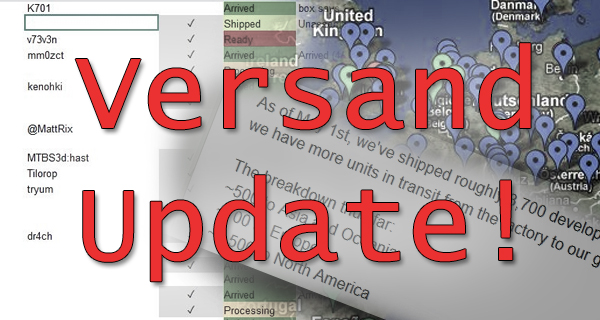 Neue Details zum Versand-Fortschritt