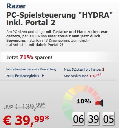 Razer Hydra Portal 2 Bundle für 40€ ! Nur noch 6 Stunden! (noch) lieferbar!