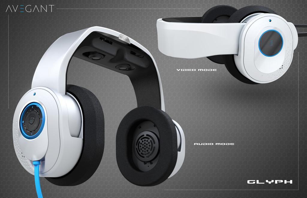Die Konzeptgrafik des Glyph, zeit sowohl einen Audio- als auch einen Video-Modus.