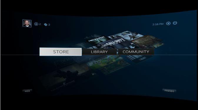 Steam im VR Modus [Quelle: Valve/Ludwig]