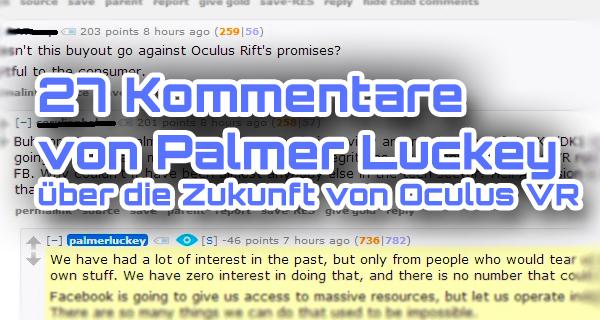 27 Statements von Palmer Luckey über die Zukunft von Oculus VR