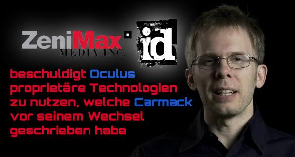 ZeniMax Media verklagt Oculus – John Carmack soll geistiges Eigentum entwendet haben
